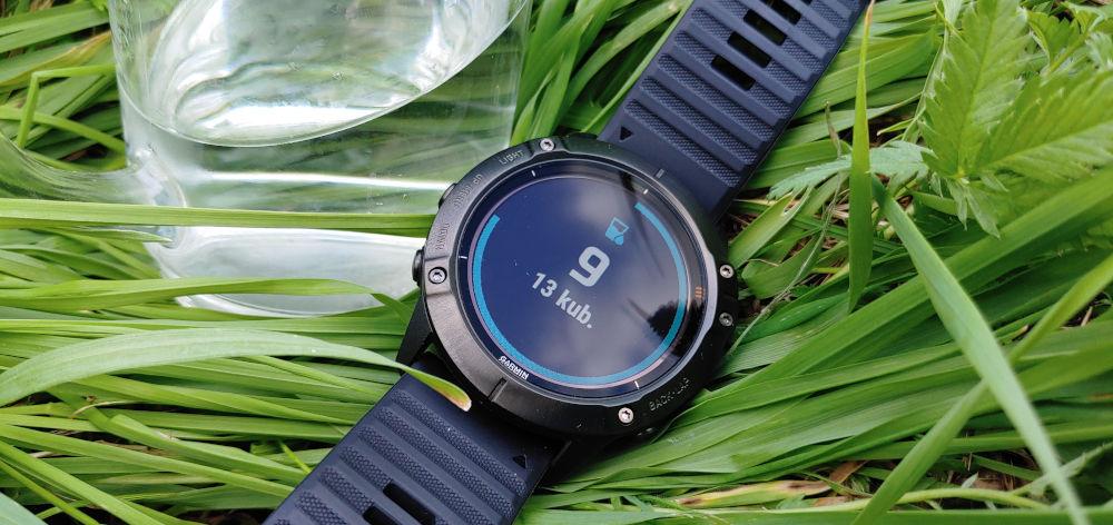 Monitorowanie nawodnienia za pomocą zegarka Garmin Fenix 6x pro solar
