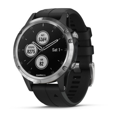 Garmin Fenix 5 Plus Srebrny [010-01988-11]